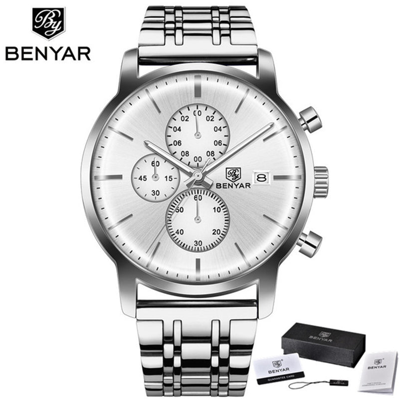 BENYAR BY5146 Multi-Function Chronograph Watch Men Fashion Quartz Watch