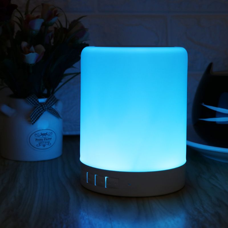 Bluetooth Speaker with Chameleon Night Lamp