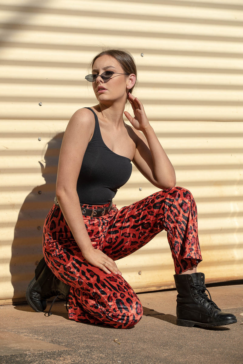 DEVON LEOPARD FLARES - CHICKABERRY BOUTIQUE Australia Womens