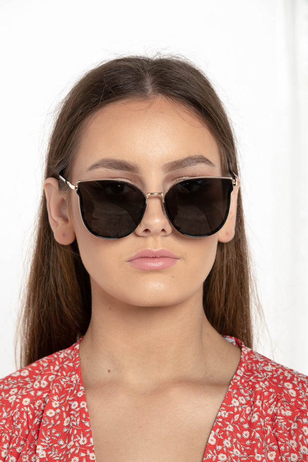 DON'T WALK SUNGLASSES BLACK - CHICKABERRY BOUTIQUE Australia Womens