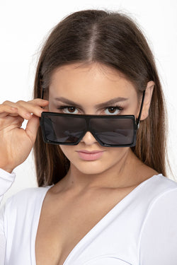 GET RIGHT RETRO SQUARE SUNGLASSES BLACK - CHICKABERRY BOUTIQUE Australia Womens