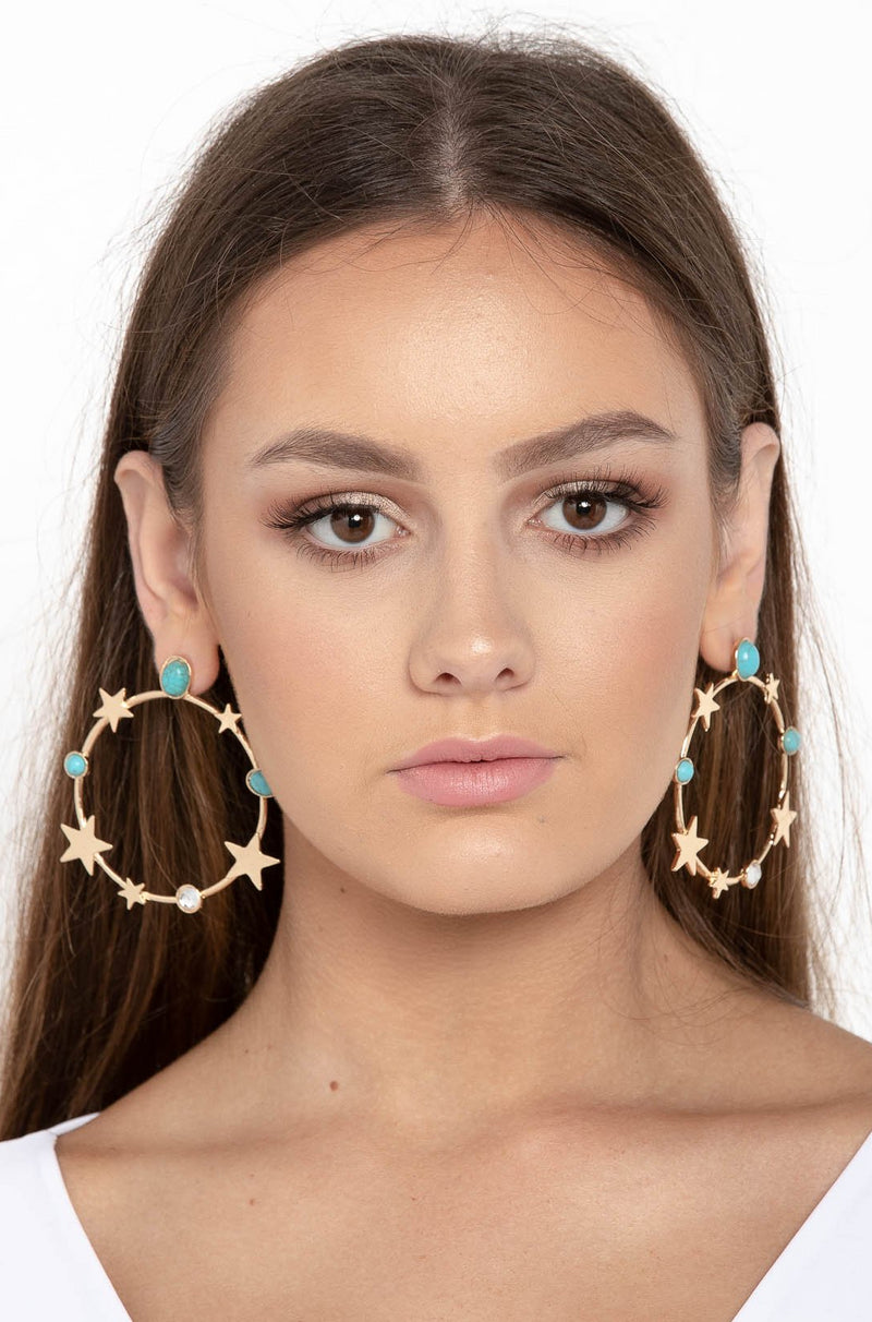 INTO THE STARS HOOP EARRINGS - CHICKABERRY BOUTIQUE Australia Womens