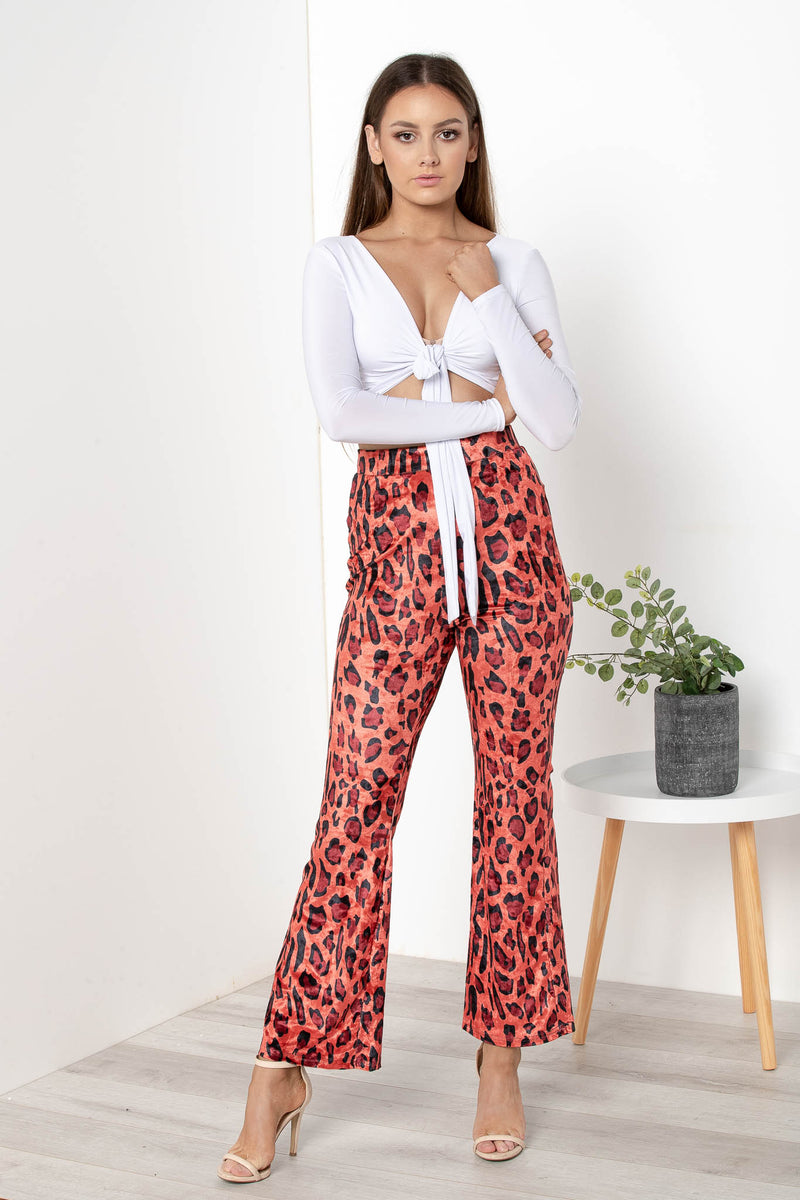 AU 8 DEVON LEOPARD FLARES - CHICKABERRY BOUTIQUE Australia Womens