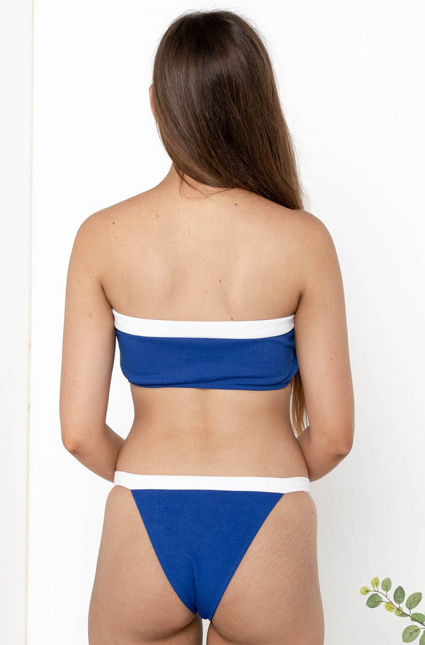 CALI SAILOR BIKINI TOP BLUE - CHICKABERRY BOUTIQUE Australia Womens