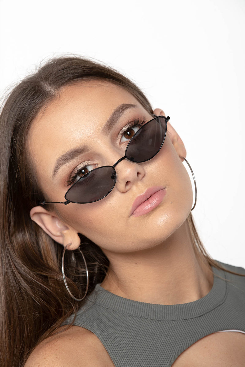 SWEET LIBERTY CAT EYE SUNGLASSES BLACK - CHICKABERRY BOUTIQUE Australia Womens