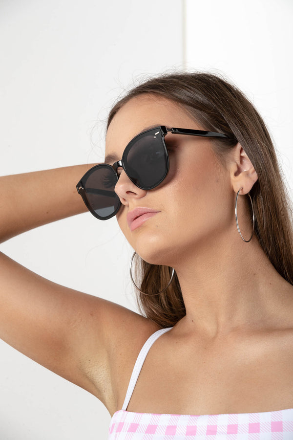 LUCID DREAM CIRCULAR SUNGLASSES BLACK - CHICKABERRY BOUTIQUE Australia Womens