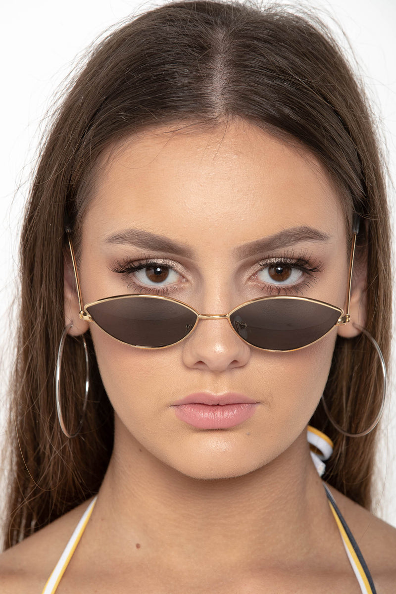 SWEET LIBERTY SUNGLASSES GOLD - CHICKABERRY BOUTIQUE Australia Womens