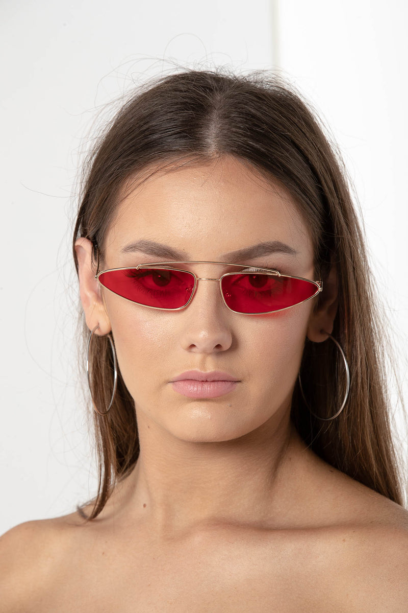 NEED YOU MORE CAT EYE SUNGLASSES RED - CHICKABERRY BOUTIQUE Australia Womens
