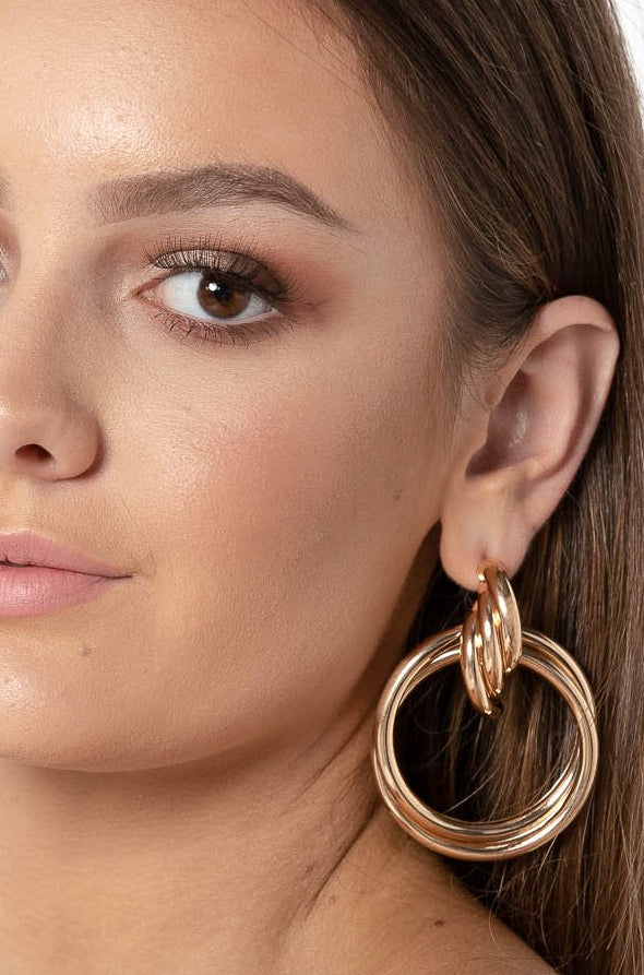 PRETTY LIFE EARRINGS GOLD - CHICKABERRY BOUTIQUE Australia Womens