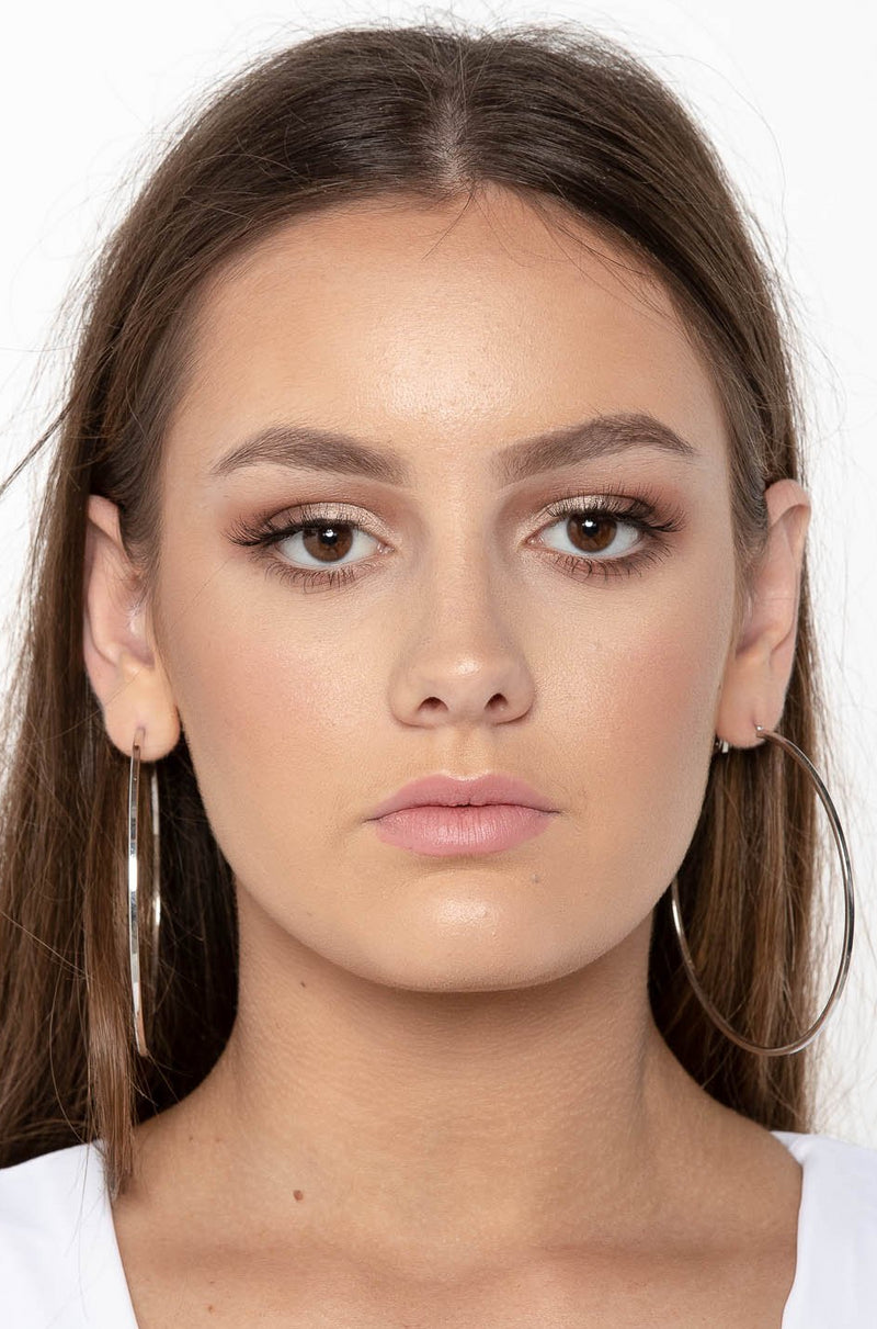 MEGAN HOOP EARRINGS LARGE - CHICKABERRY BOUTIQUE Australia Womens
