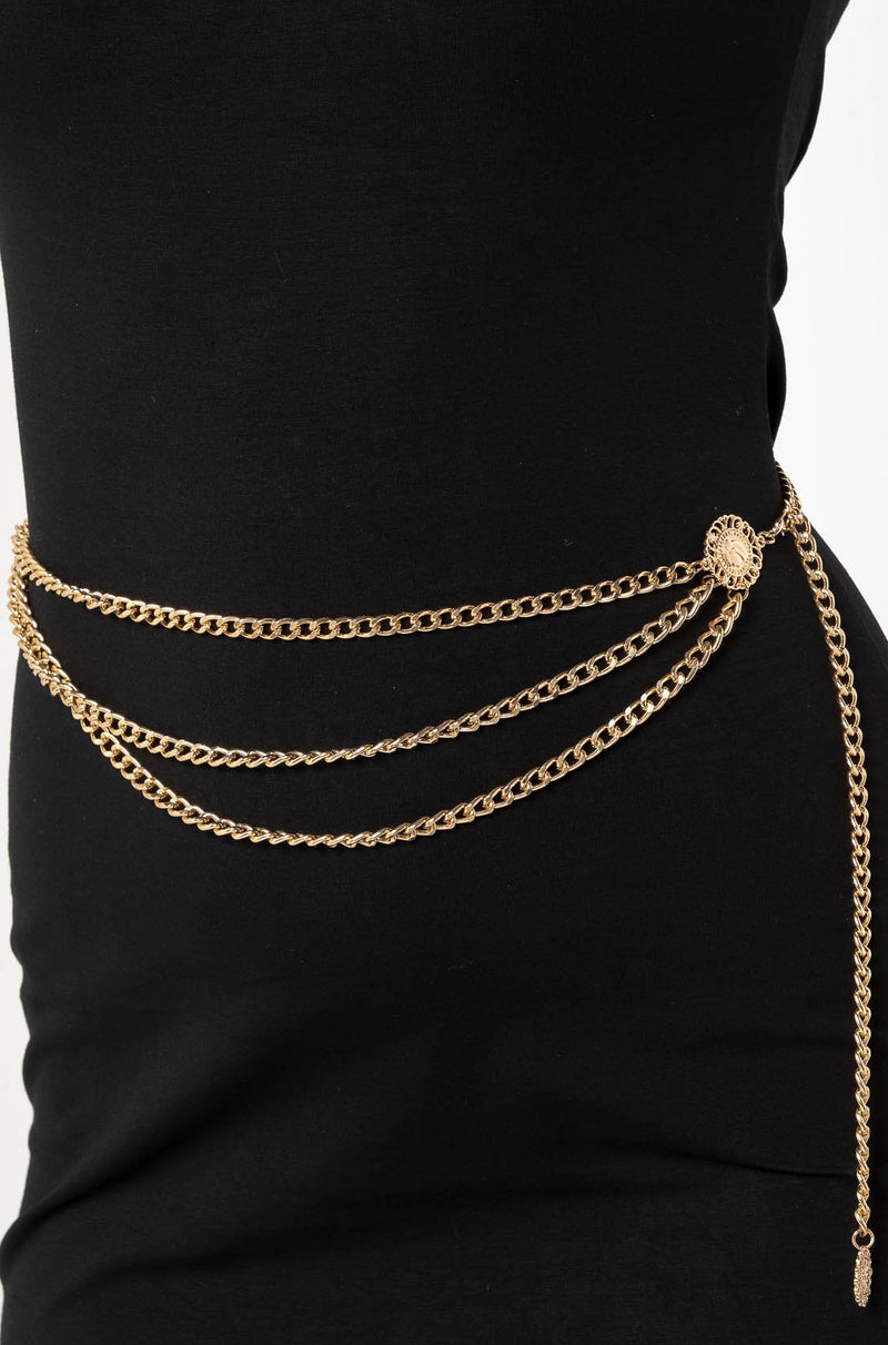 MADE FOR THIS LOVE CHAIN BELT GOLD - CHICKABERRY BOUTIQUE Australia Womens