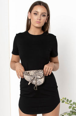 DANNAH SNAKESKIN BELT BAG - CHICKABERRY BOUTIQUE Australia Womens