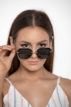 KEY TO MY HEART GOLD-TONED SUNGLASSES - CHICKABERRY BOUTIQUE Australia Womens