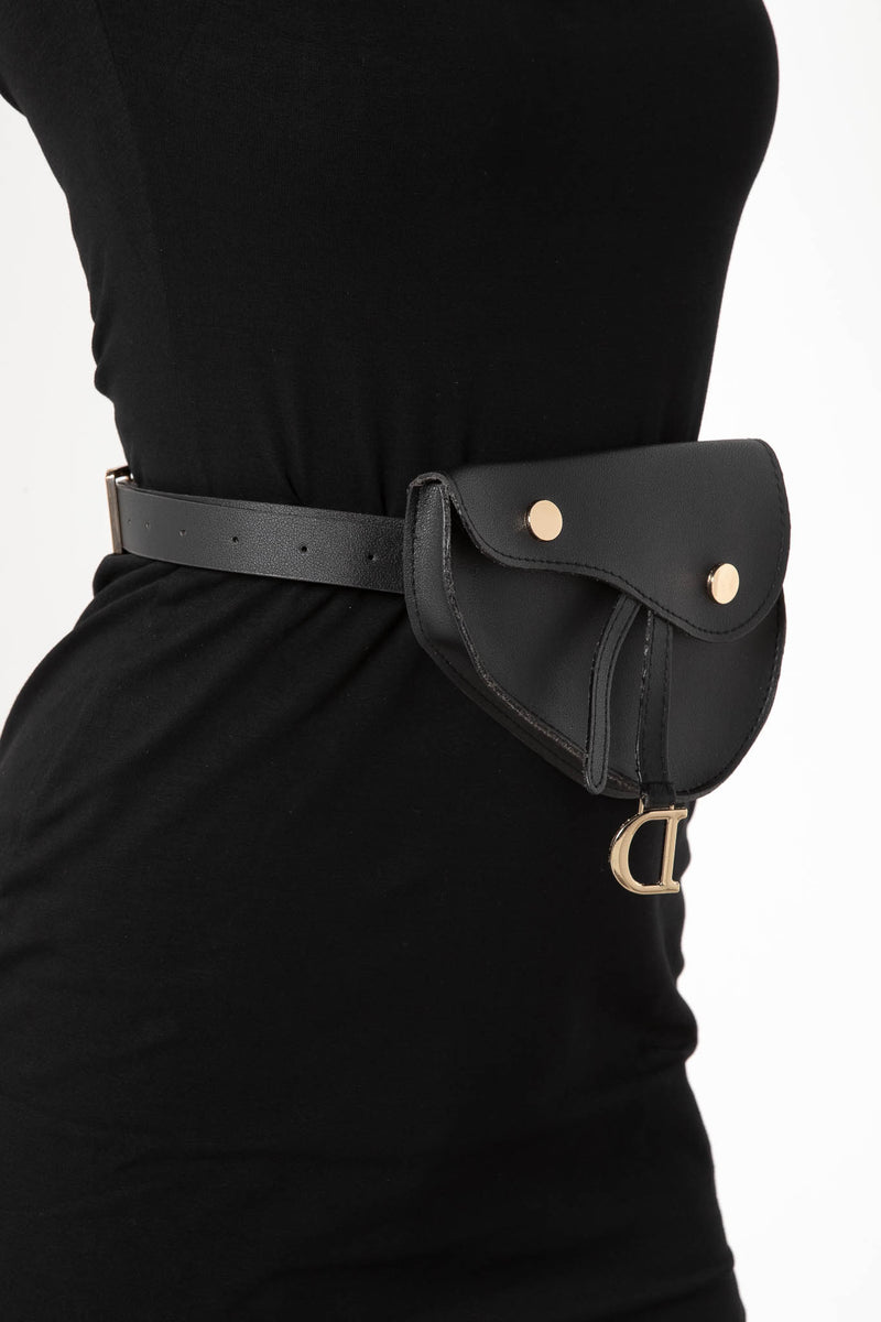 DIONE BELT BAG BLACK - CHICKABERRY BOUTIQUE Australia Womens