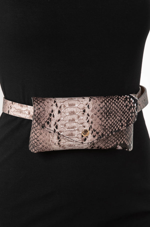 EVE SNAKESKIN BELT BAG - CHICKABERRY BOUTIQUE Australia Womens