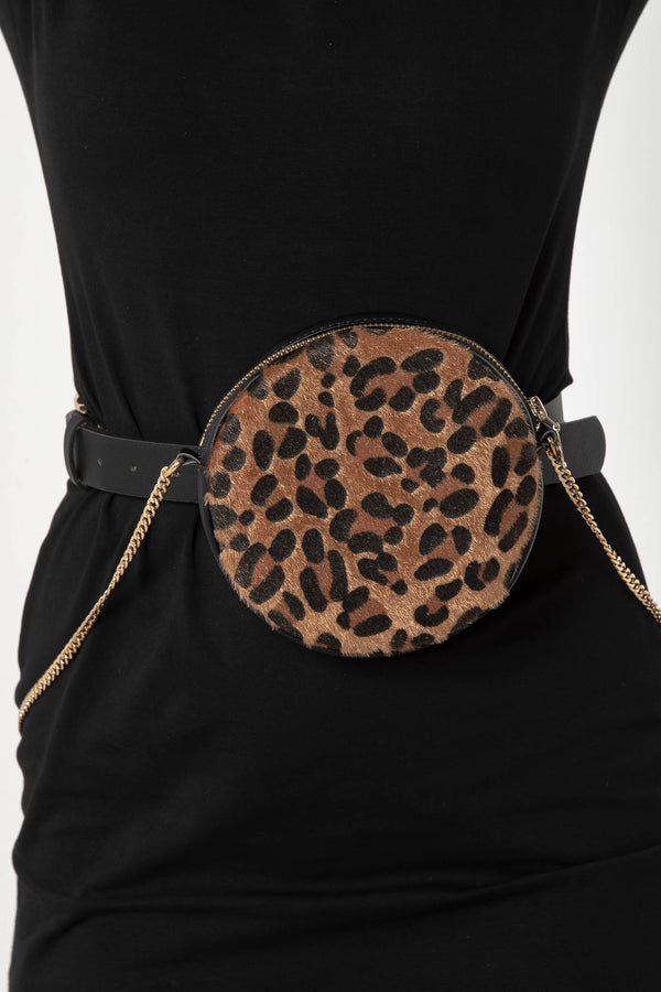 LEOPARD ROUND BELT BAG - CHICKABERRY BOUTIQUE Australia Womens