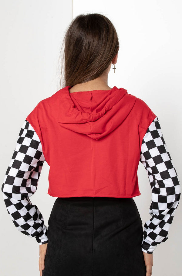 CHECKERED CHICKABERRY RACER JACKET - CHICKABERRY BOUTIQUE Australia Womens