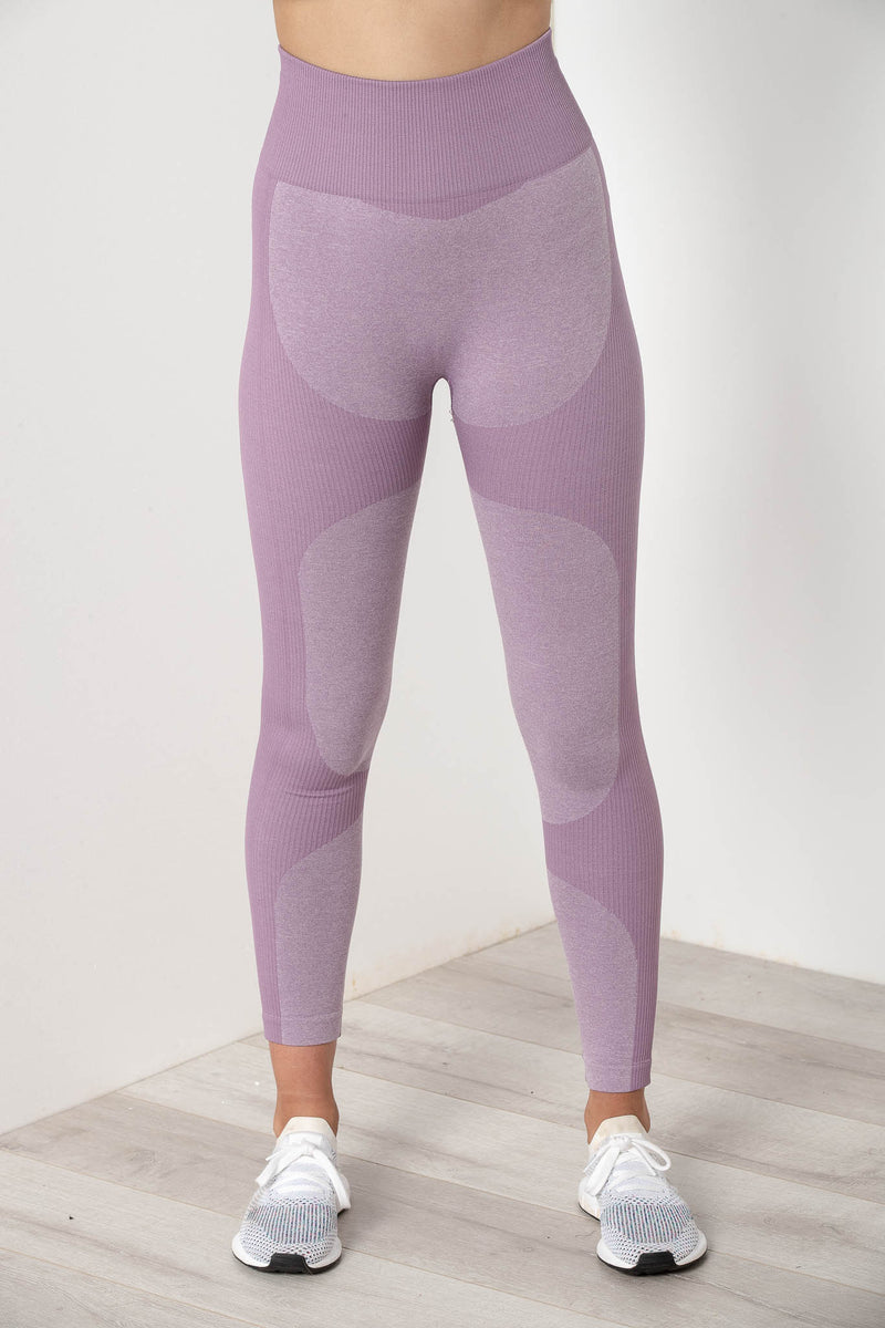 AU 8 SIERRA SEAMLESS HIGH WAIST TIGHTS MAUVE PURPLE - CHICKABERRY BOUTIQUE Australia Womens