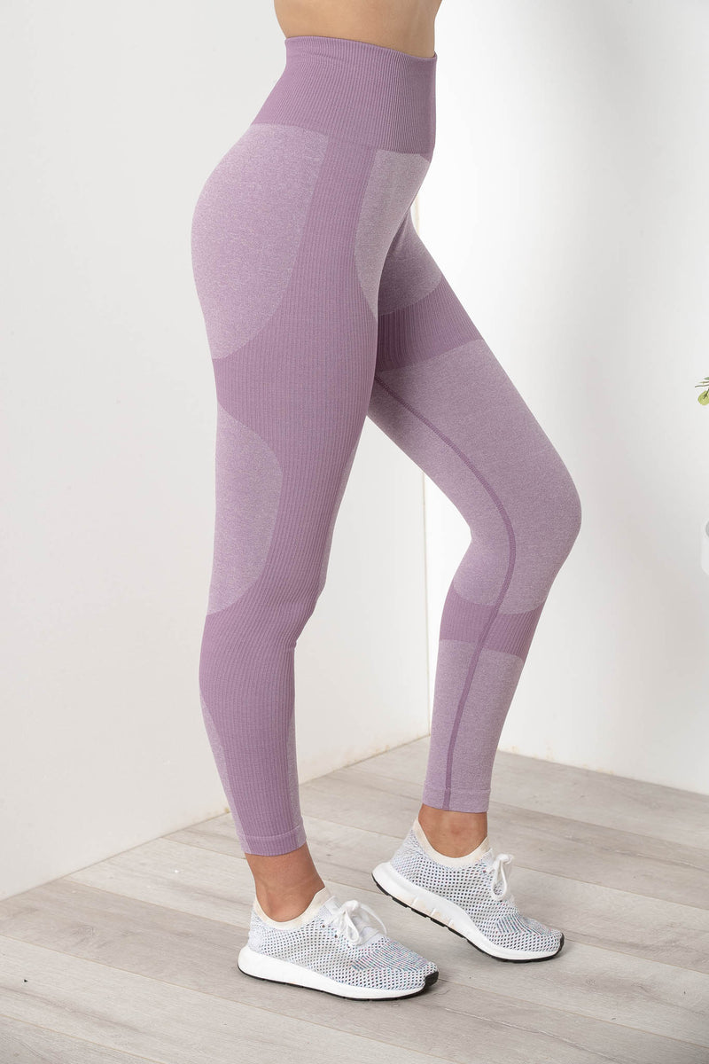 SIERRA SEAMLESS HIGH WAIST TIGHTS MAUVE PURPLE - CHICKABERRY BOUTIQUE Australia Womens