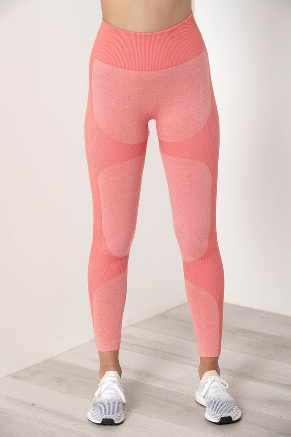 AU 8 SIERRA SEAMLESS HIGH WAIST TIGHTS CORAL PINK - CHICKABERRY BOUTIQUE Australia Womens