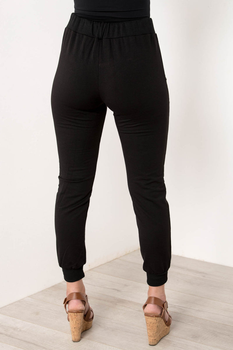 SYDNEY SWEAT SHOP JOGGERS BLACK - CHICKABERRY BOUTIQUE Australia Womens