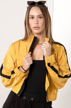 AU 8 SUNNY CROPPED BOMBER JACKET - CHICKABERRY BOUTIQUE Australia Womens