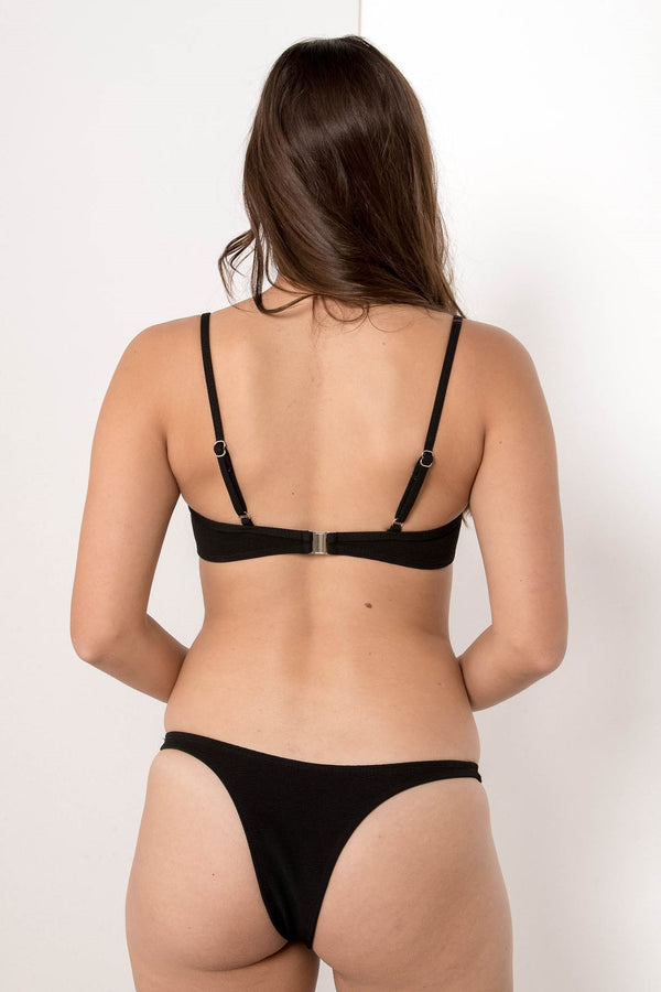 FORGOTTEN VENDETTA BALCONETTE BIKINI TOP JET BLACK - CHICKABERRY BOUTIQUE Australia Womens