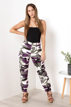 AU 6 NEVER DISCRETE CAMO JOGGERS PURPLE - CHICKABERRY BOUTIQUE Australia Womens