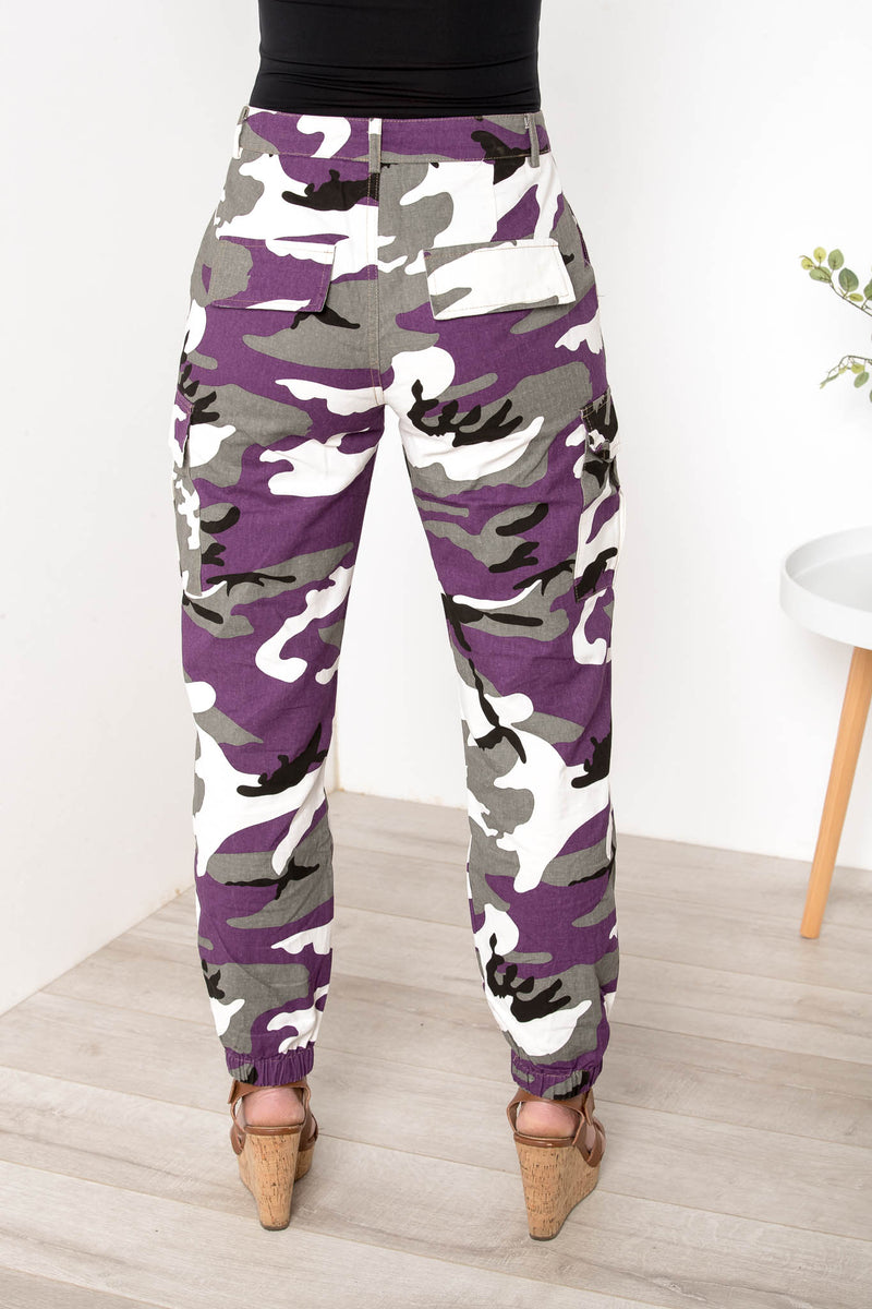 NEVER DISCRETE CAMO JOGGERS PURPLE - CHICKABERRY BOUTIQUE Australia Womens