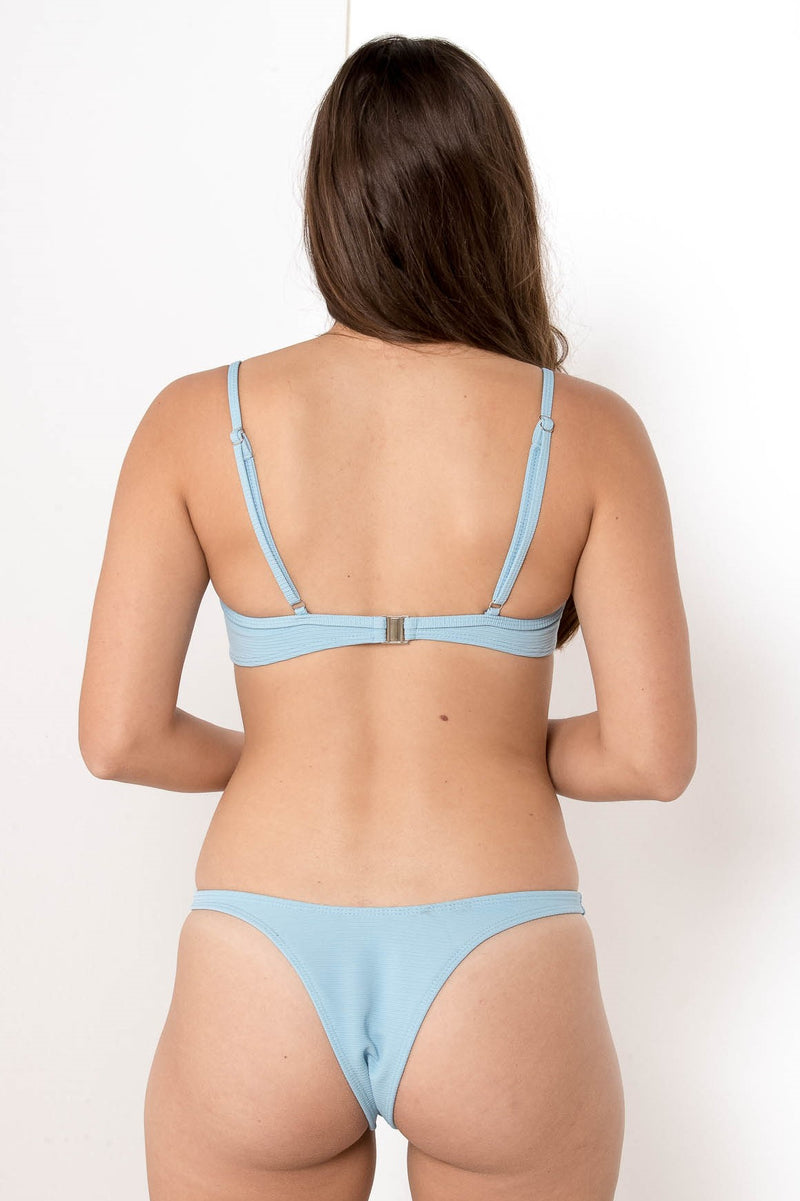 FORGOTTEN VENDETTA BALCONETTE BIKINI TOP SKY BLUE - CHICKABERRY BOUTIQUE Australia Womens