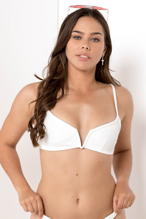 AU 6 FORGOTTEN VENDETTA BALCONETTE BIKINI TOP WHITE - CHICKABERRY BOUTIQUE Australia Womens