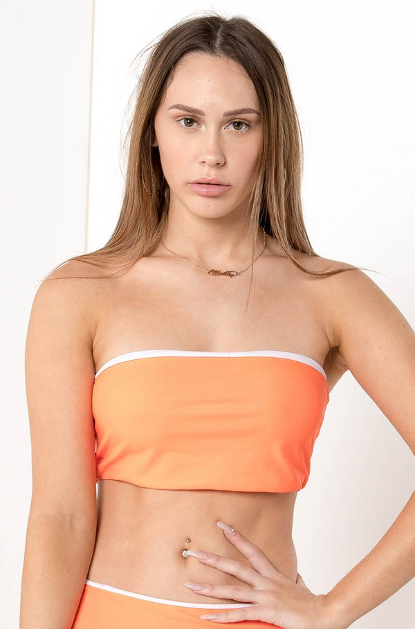 AU 8 MELISANDRE BANDEAU BIKINI TOP ORANGE - CHICKABERRY BOUTIQUE Australia Womens