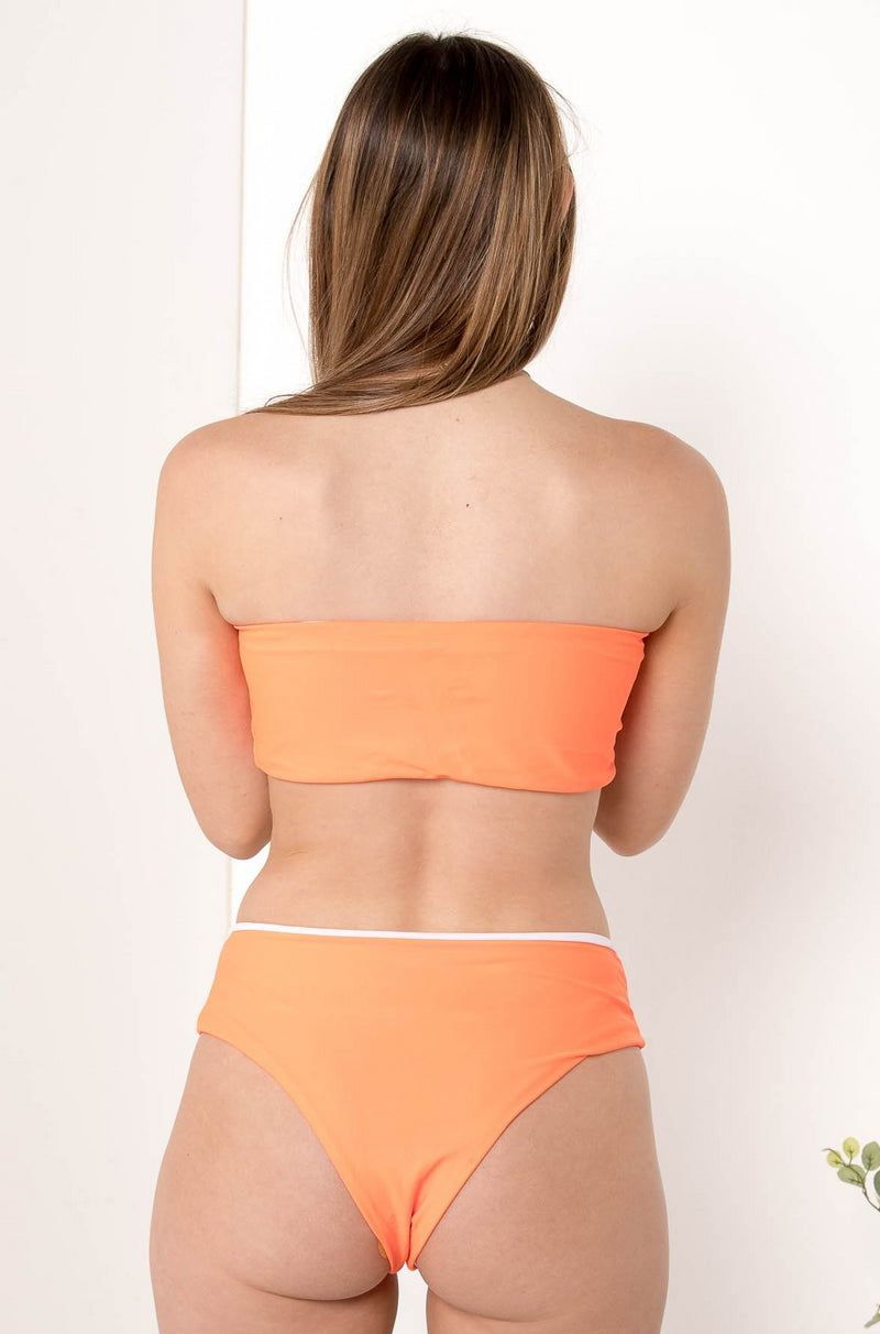 MELISANDRE HIGH WAIST BIKINI BOTTOM ORANGE - CHICKABERRY BOUTIQUE Australia Womens