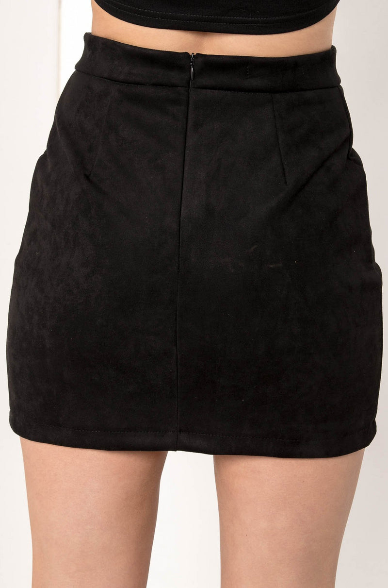 ALWAYS AVRIL SUEDE MINI SKIRT - CHICKABERRY BOUTIQUE Australia Womens