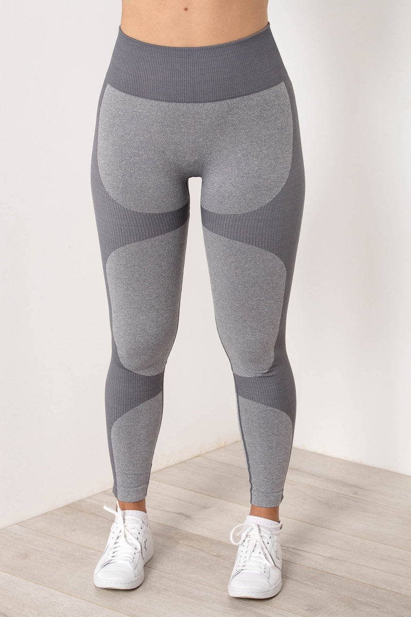 AU 6 SIERRA SEAMLESS HIGH WAIST TIGHTS COOL GREY - CHICKABERRY BOUTIQUE Australia Womens