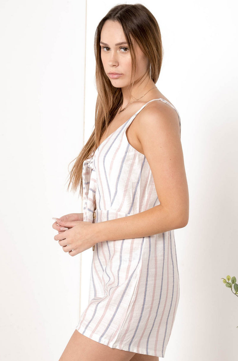 ELOUISE MIDDAY MOOD PASTEL PLAYSUIT - CHICKABERRY BOUTIQUE Australia Womens