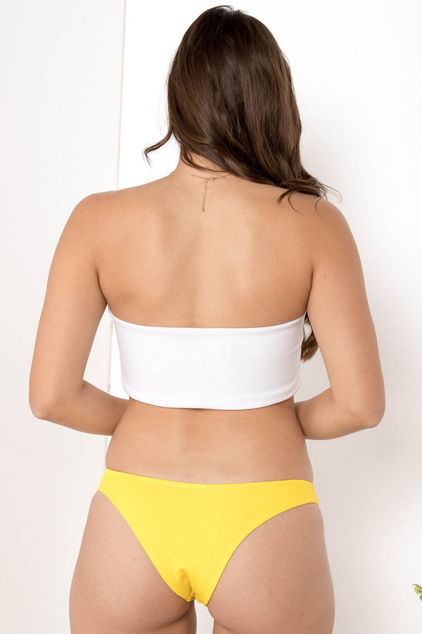 A TOUCH OF SUNSHINE BANDEAU BIKINI TOP - CHICKABERRY BOUTIQUE Australia Womens