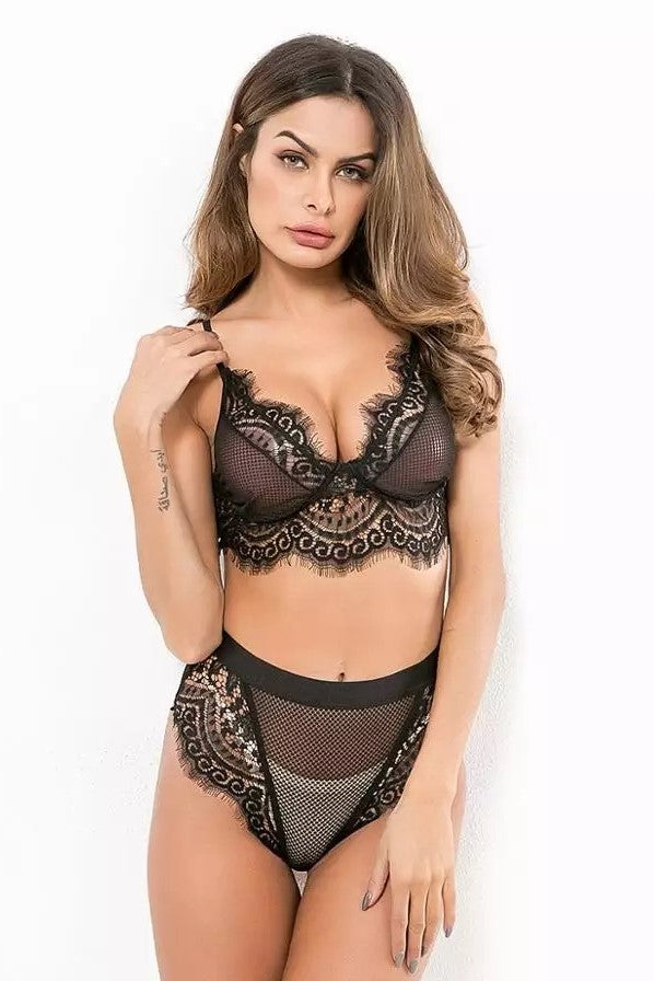EVERYONE'S DARLING LACE LINGERIE SET BLACK - CHICKABERRY BOUTIQUE Australia Womens