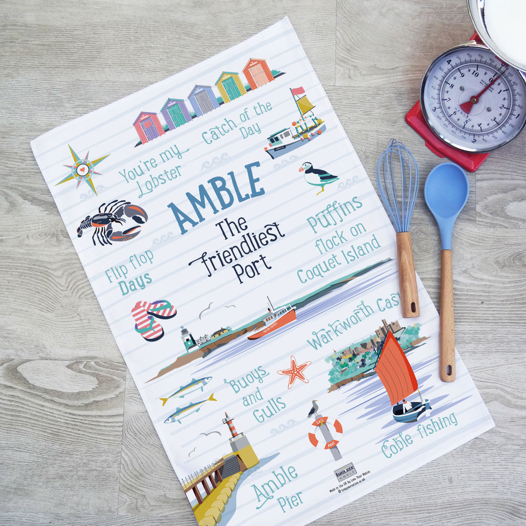 Amble Tea Towel