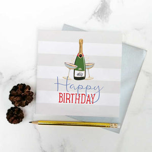 Birthday Fizz' Greeting Card