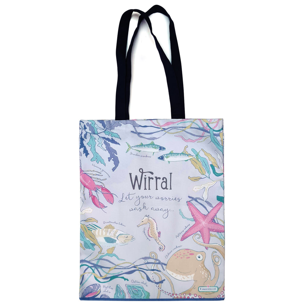 Wirral Coastal Cotton Canvas Bag