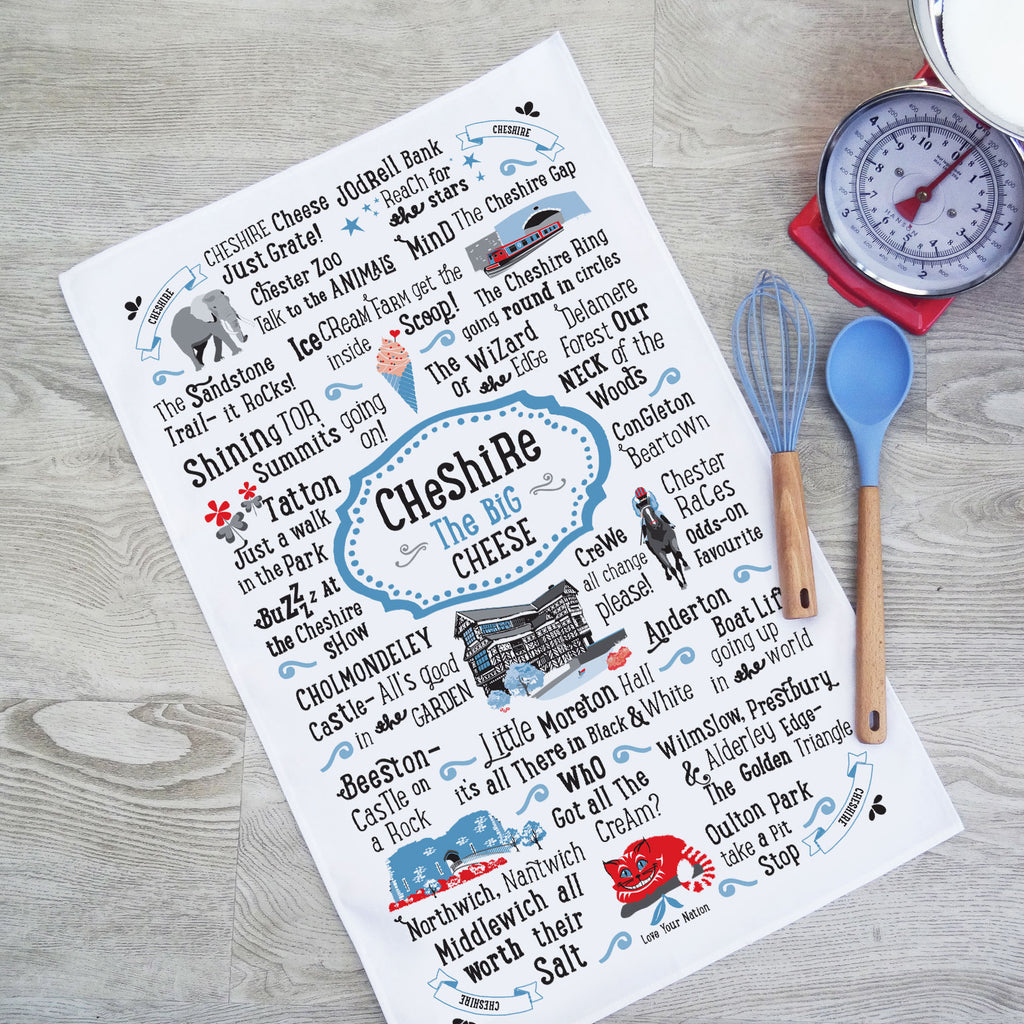 Cheshire Tea Towel