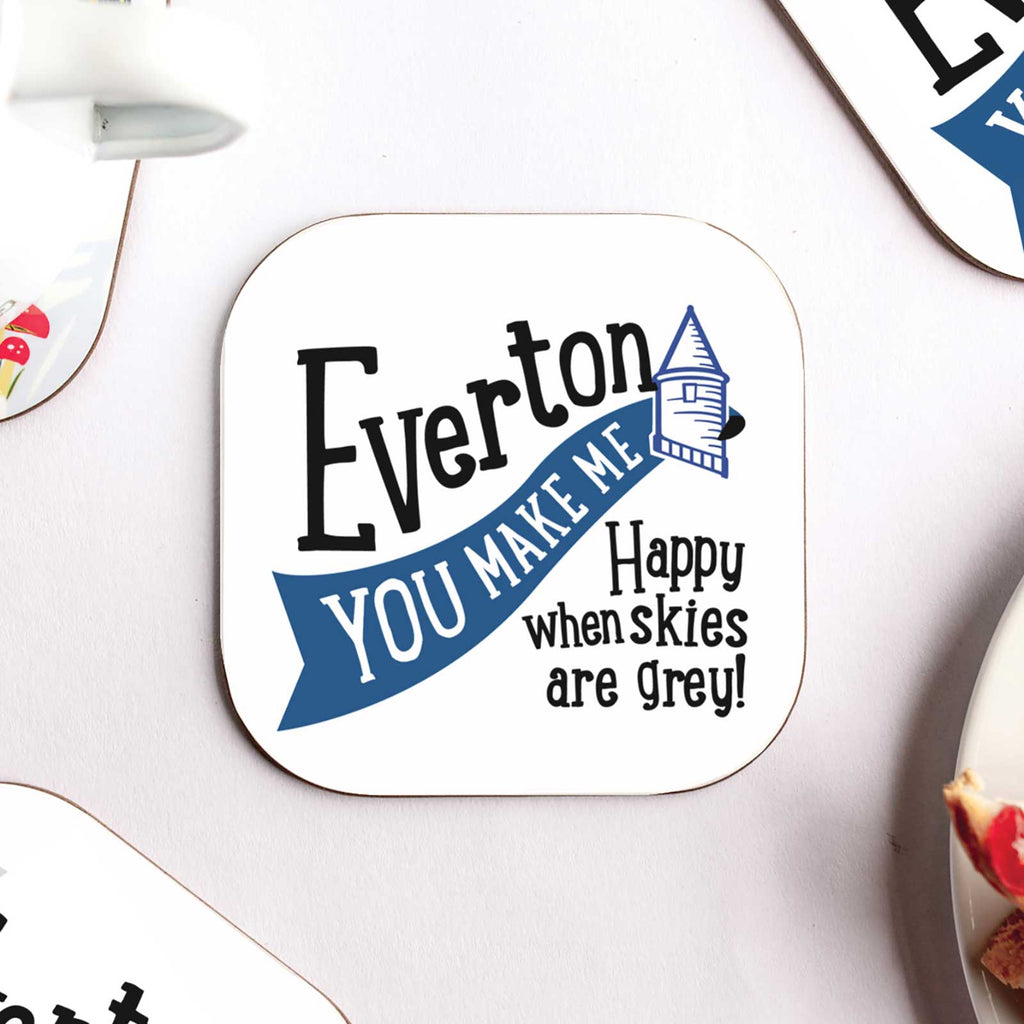 Everton 'You Make me Happy' Coaster