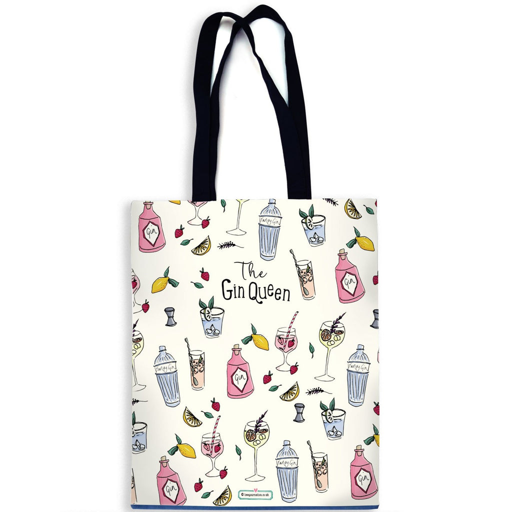 Gin Queen Cotton Canvas Bag