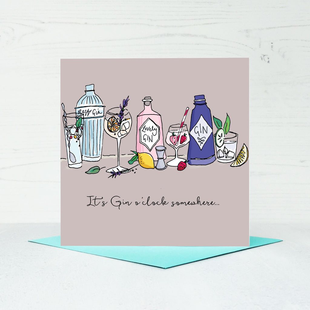 Gin O'Clock Greeting Card