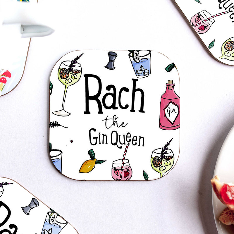 Gin Queen Personalised Coaster