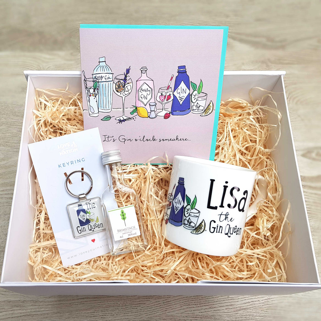 Personalised 'Gin Queen' Gift Box