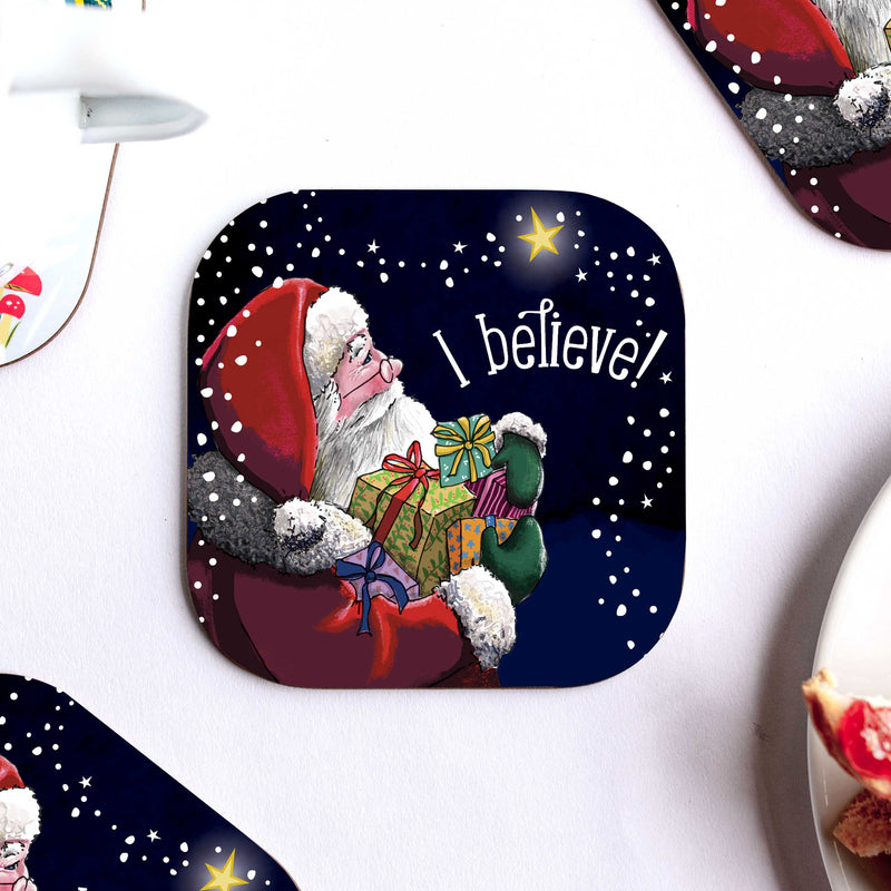 I Believe Christmas Coaster