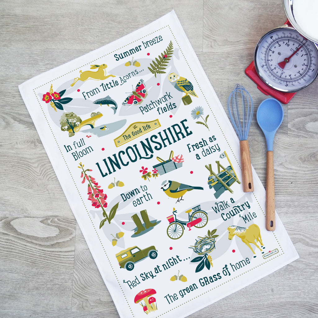 Lincolnshire Tea Towel