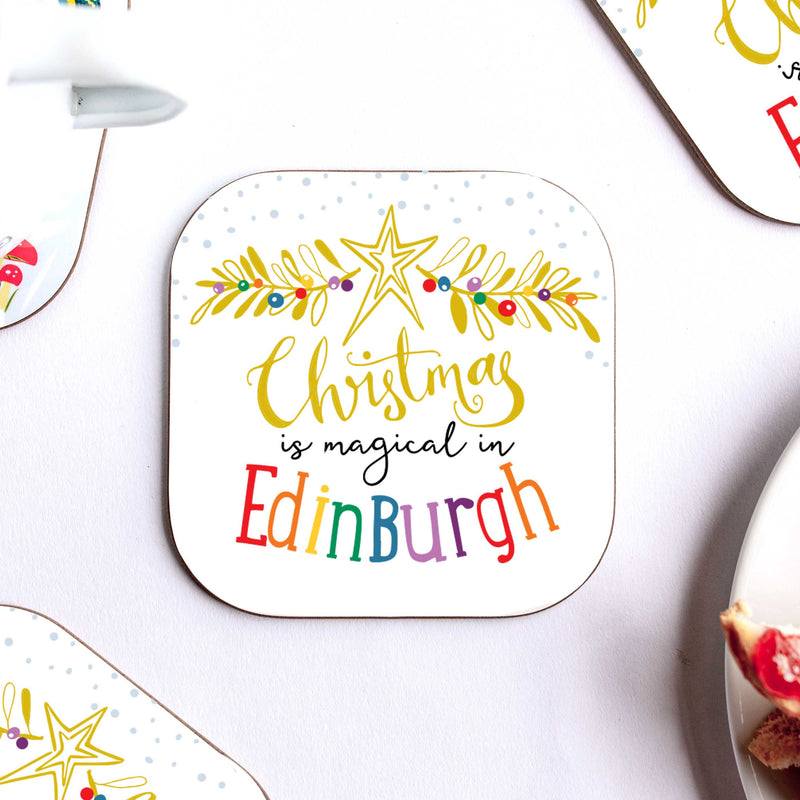 Magic of Christmas Personalised Coaster